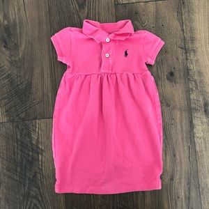 Polo Ralph Lauren Pink Polo Dress Collared Girl's